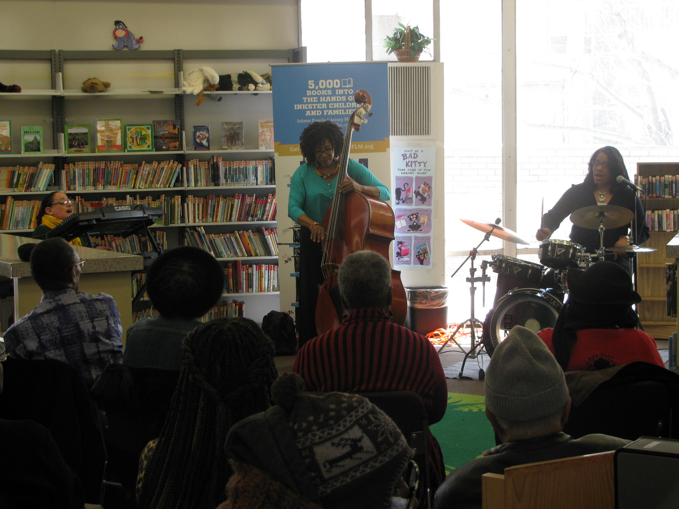 Straight Ahead put on a great show that was enjoyed by many at the our library!